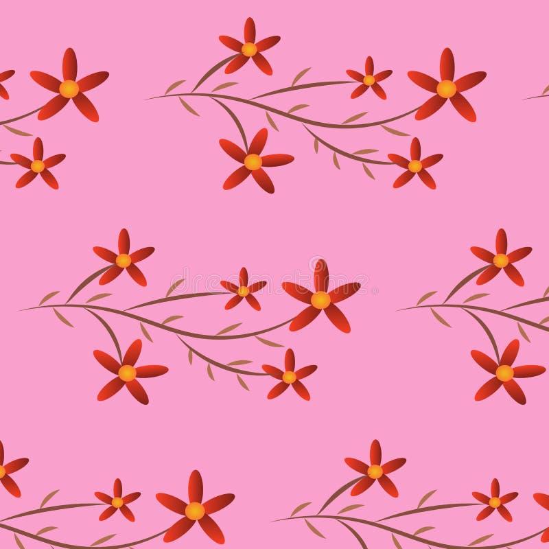 Vermelho da flor do fundo foto de stock royalty free