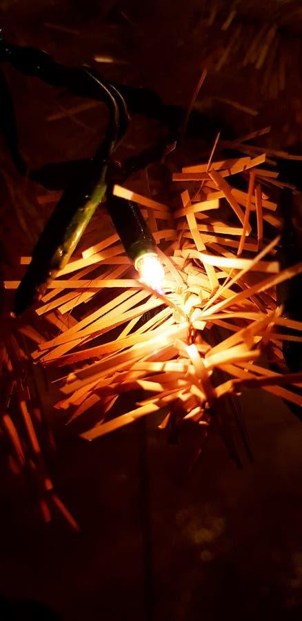 Vermelho da luz de Natal imagens de stock