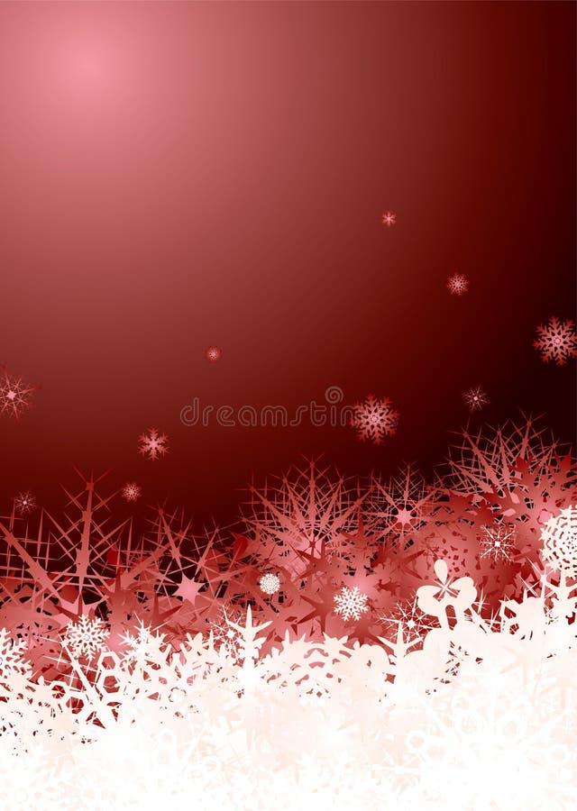 Vermelho da pilha do floco de neve ilustração royalty free