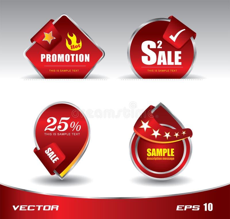 Vermelho da venda da promoção ilustração stock