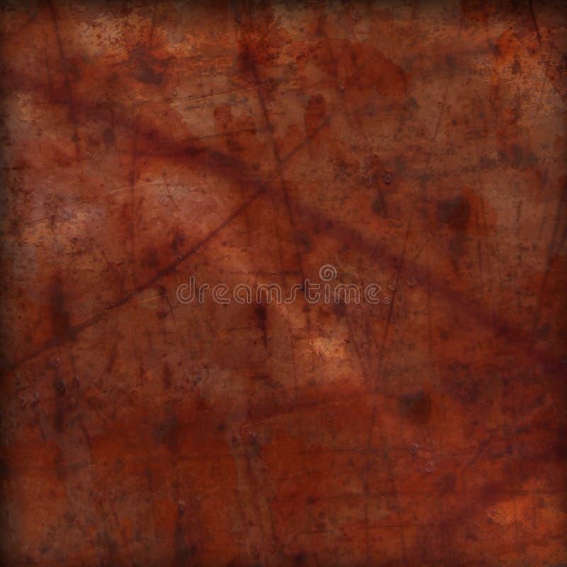 Vermelho de aço oxidado Brown do fundo do metal do Grunge ilustração royalty free