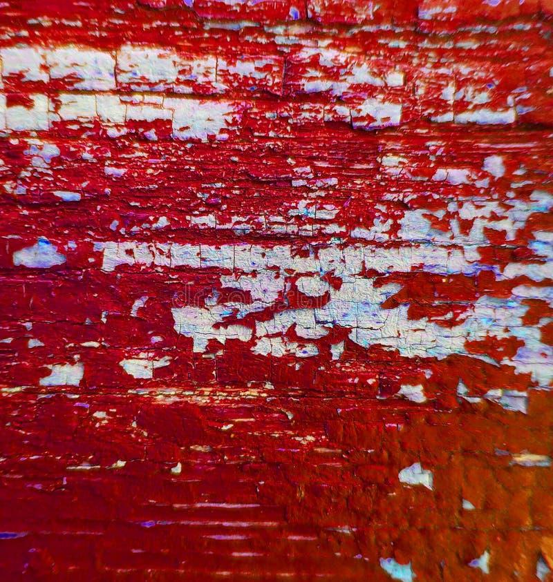 Vermelho de madeira da textura do fundo da pintura fotografia de stock royalty free