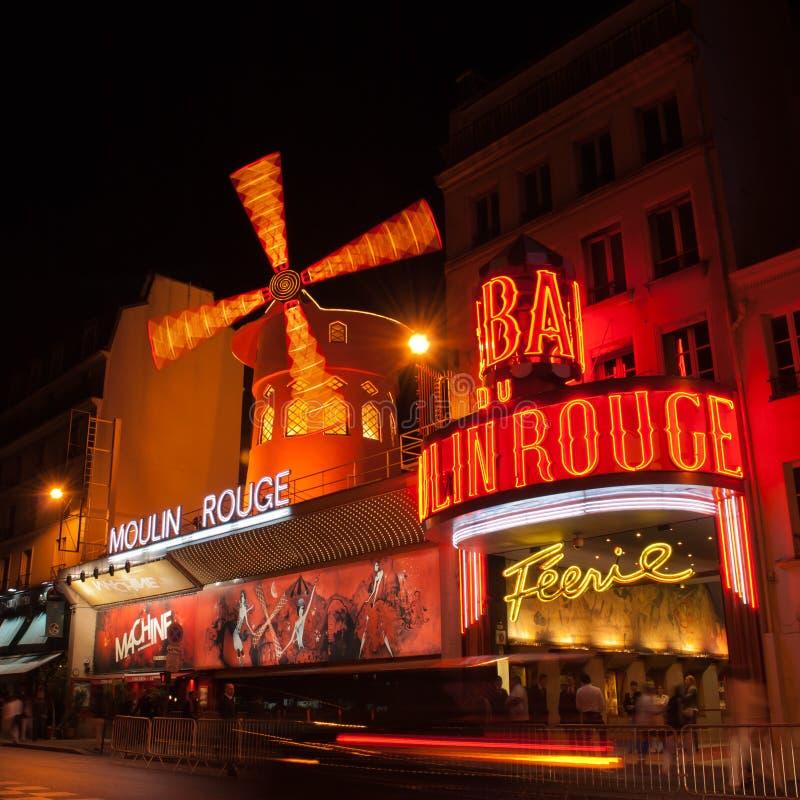 Vermelho de Moulin foto de stock