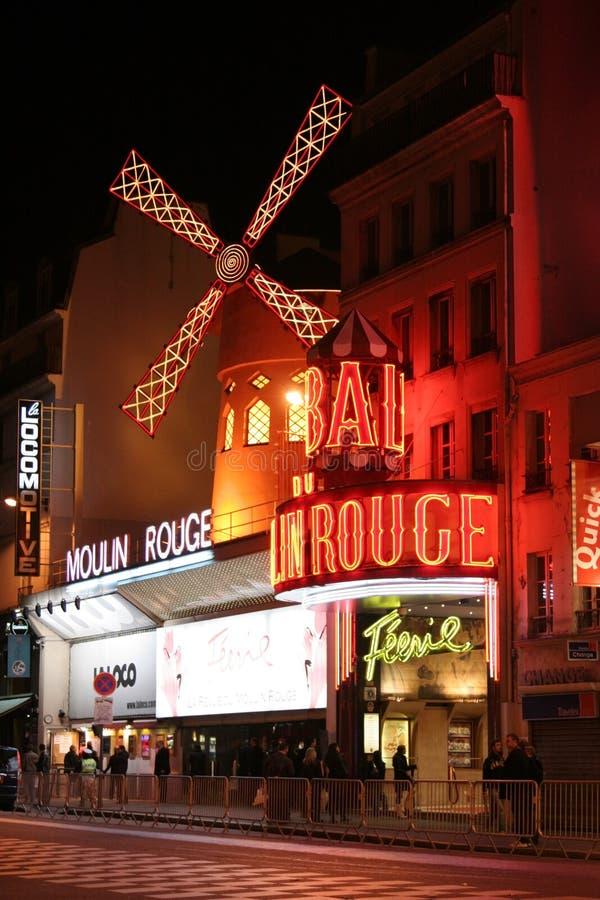Vermelho de Moulin, Paris fotos de stock