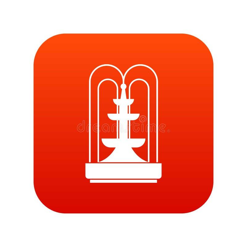 Vermelho digital do ícone da fonte ilustração stock