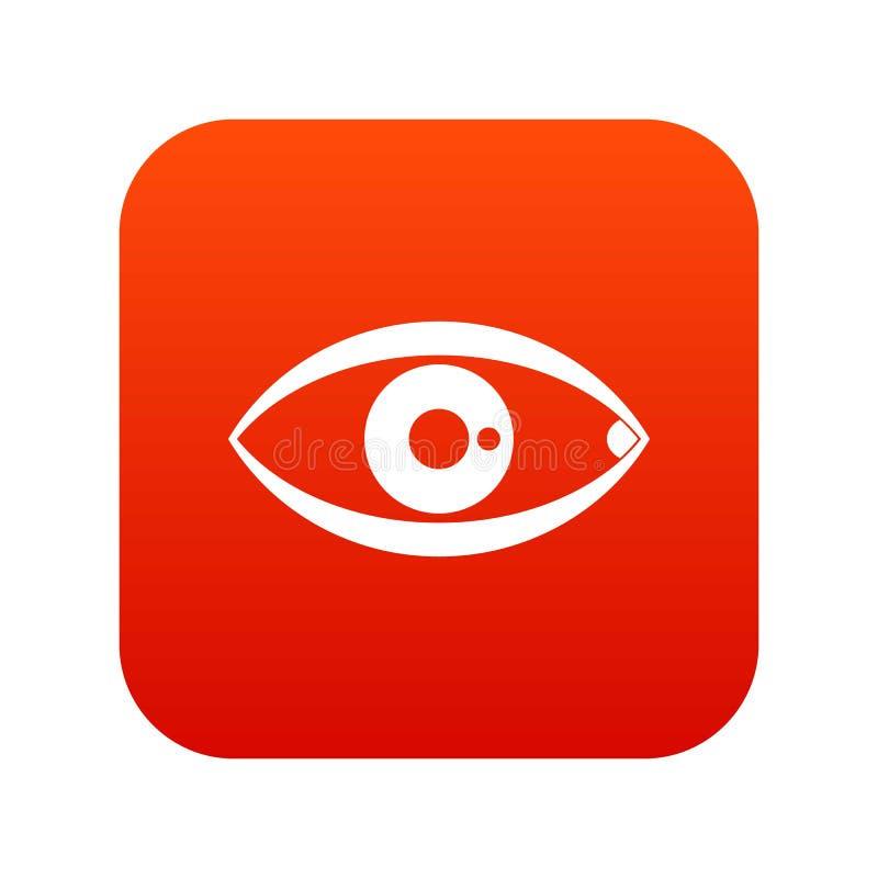Vermelho digital do ícone do olho humano ilustração royalty free
