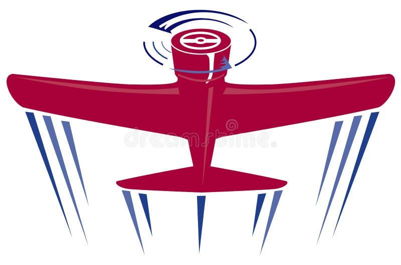 Vermelho do avião da hélice ilustração do vetor