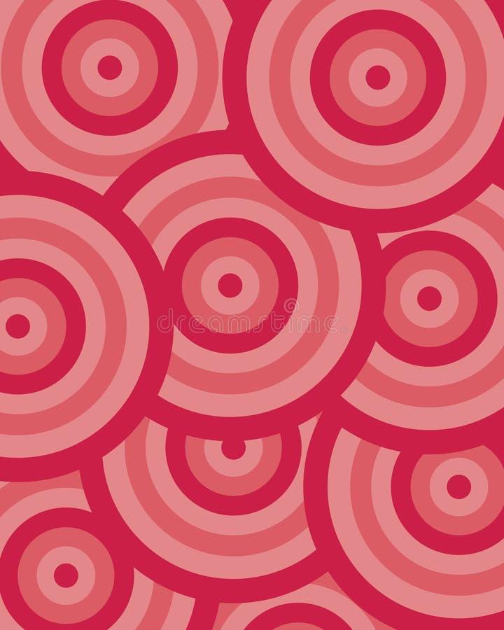Vermelho do círculo do teste padrão ilustração do vetor