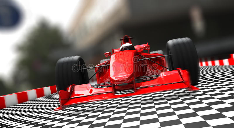 Vermelho do carro desportivo da fórmula 1 fotografia de stock royalty free