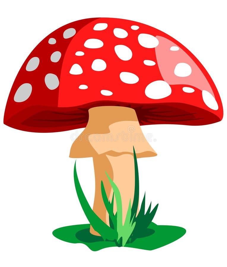 Vermelho do cogumelo ilustração stock