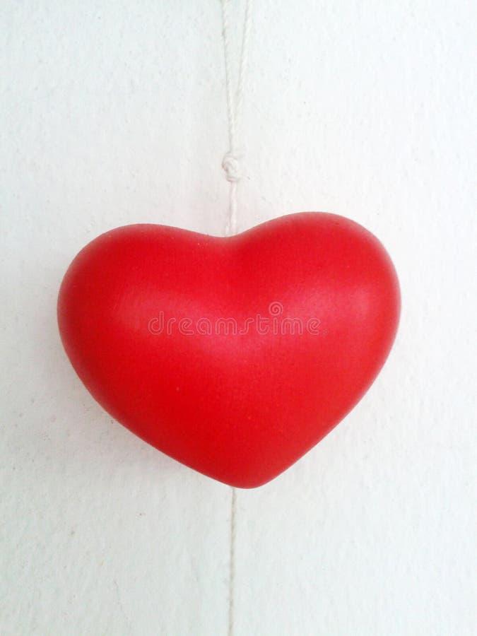 Vermelho do coração foto de stock