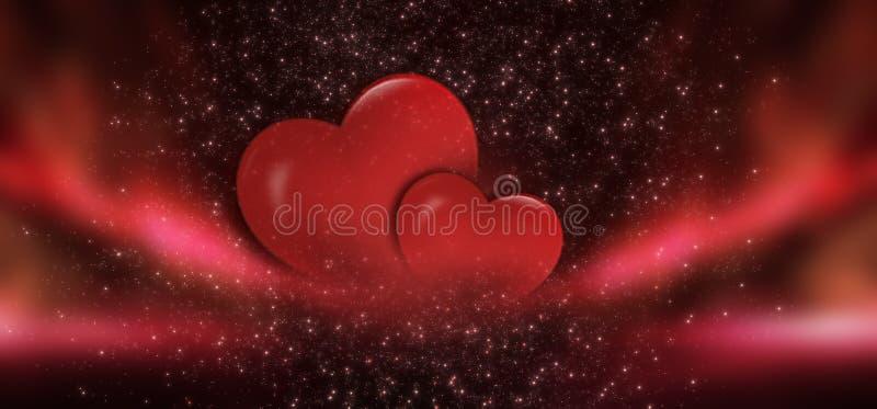 Vermelho do fundo da venda do dia de Valentim com coração Fundo romântico vermelho para cartões ou tampas para o feriado de St Va ilustração do vetor