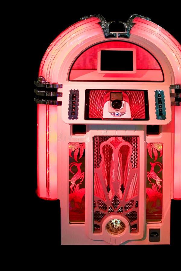 Vermelho do jukebox fotos de stock