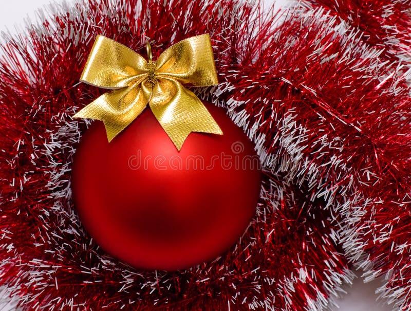 Vermelho do Natal da esfera imagens de stock