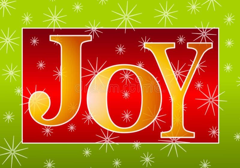 Vermelho do ouro da bandeira da alegria do Natal ilustração do vetor