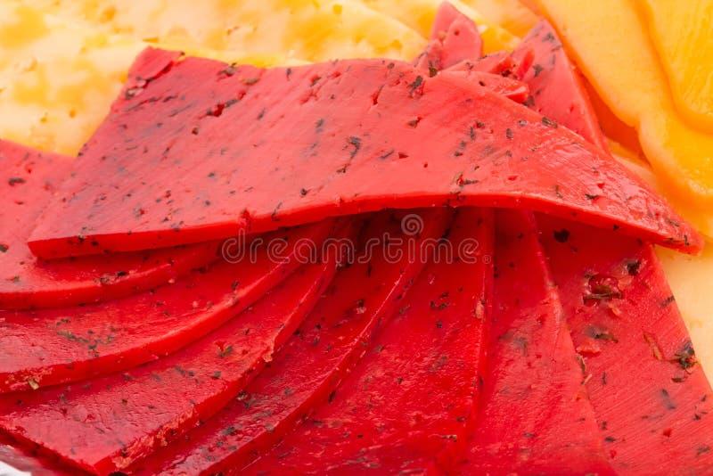 Vermelho do pesto do queijo foto de stock