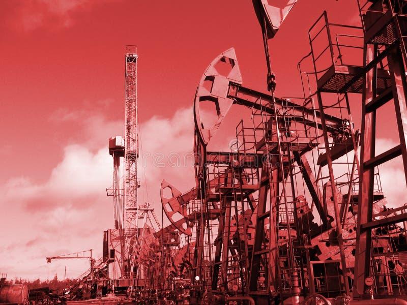 Vermelho do petróleo imagens de stock
