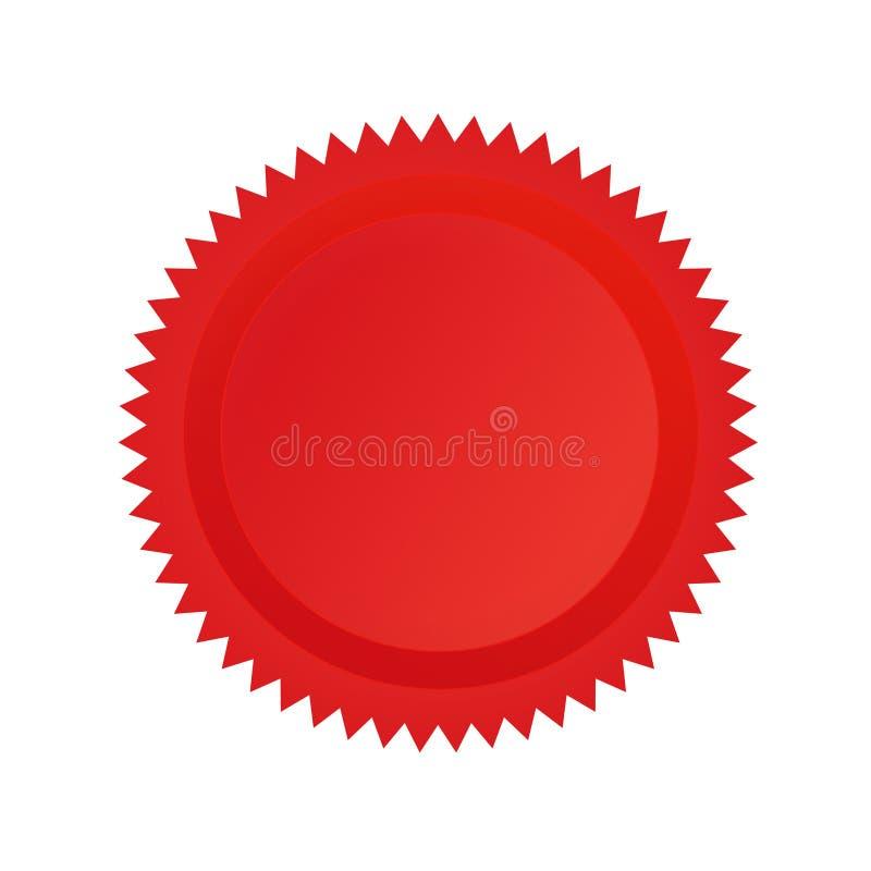 Vermelho do selo da aprovaçã0 ilustração royalty free
