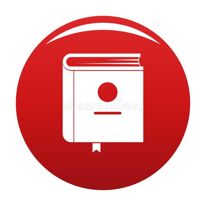 Vermelho do vetor do ícone da enciclopédia do livro ilustração do vetor