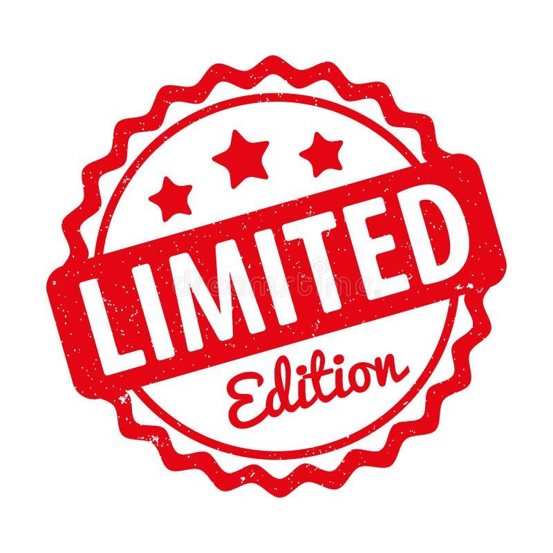 Vermelho do vetor da concessão do carimbo de borracha da edição limitada em um fundo branco ilustração royalty free