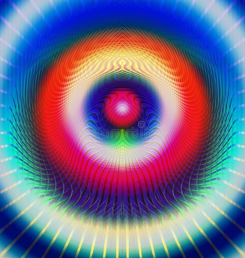 Vermelho e azul esotéricos ilustração do vetor