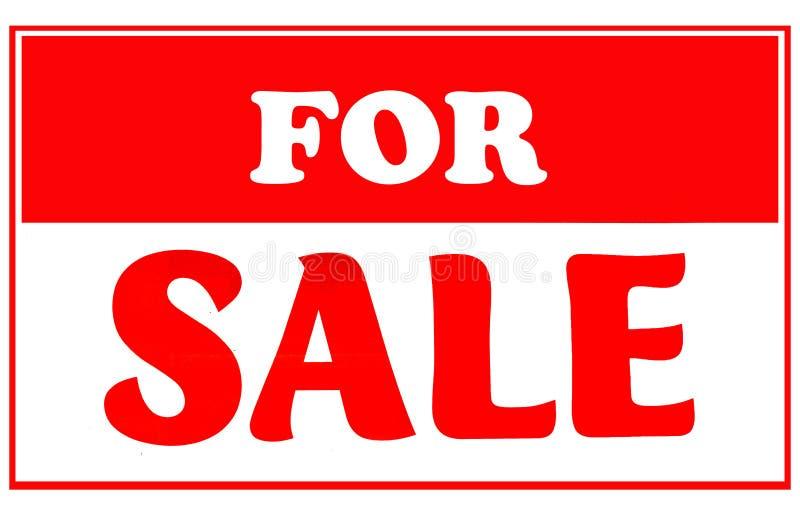 Vermelho e branco para o sinal da venda imagem de stock