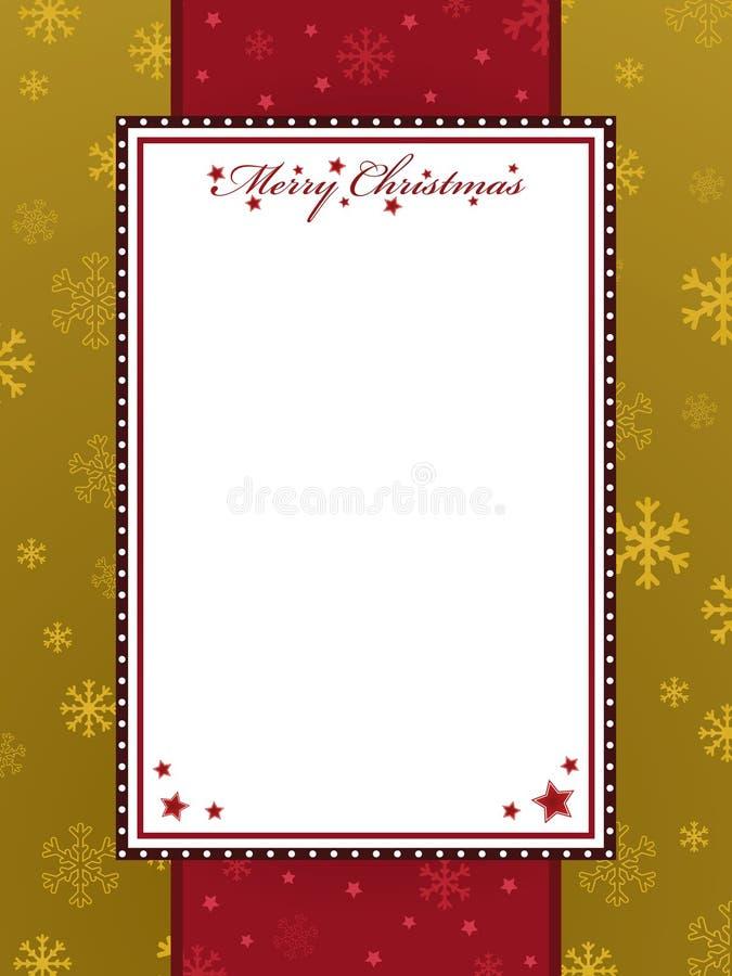 Vermelho e frame do Natal do ouro ilustração royalty free