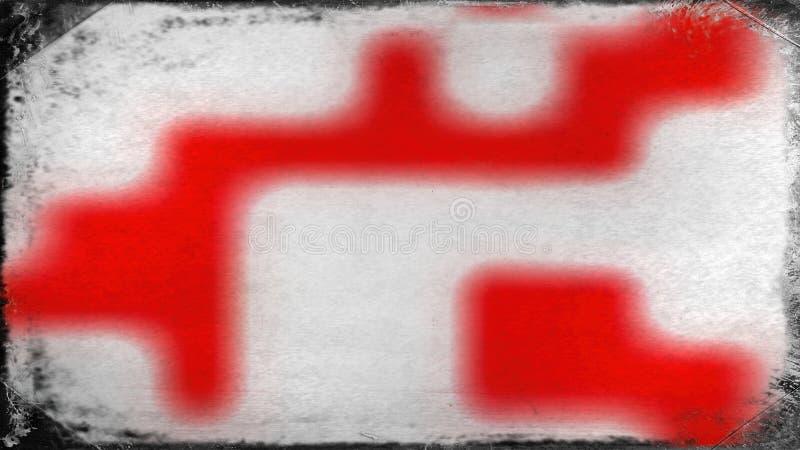 Vermelho e fundo elegante bonito do projeto da arte gráfica da ilustração de Grey Grunge Background Texture Image ilustração royalty free