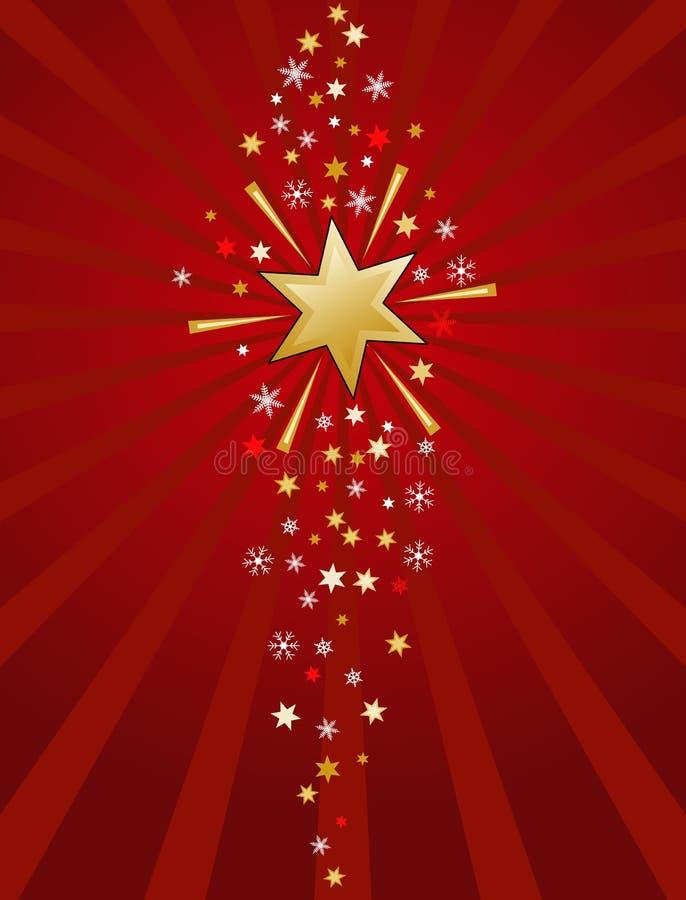 Vermelho e ilustração da estrela do ouro ilustração do vetor