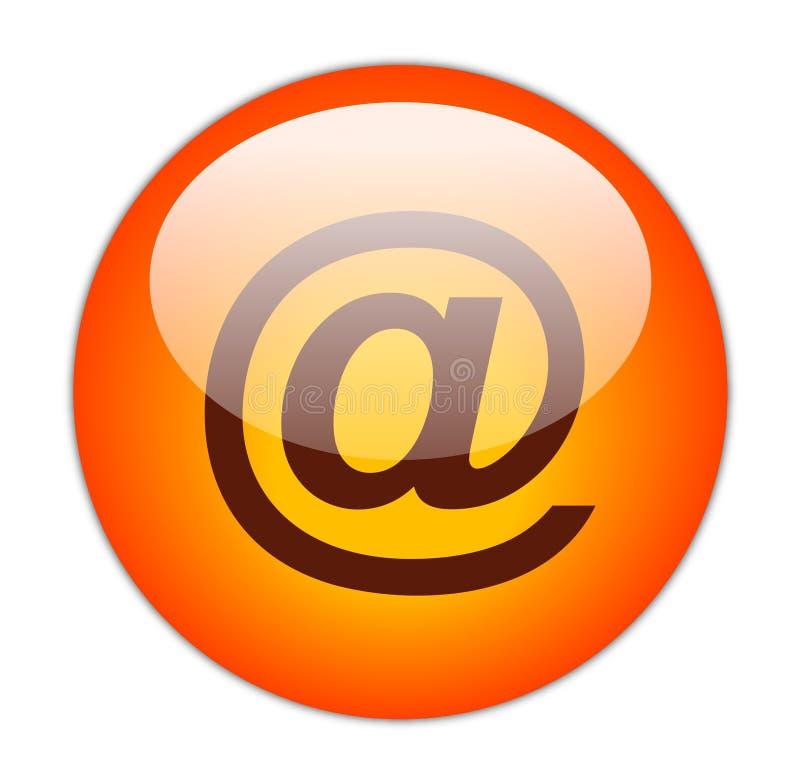 Vermelho Glassy no ícone da taxa ilustração royalty free