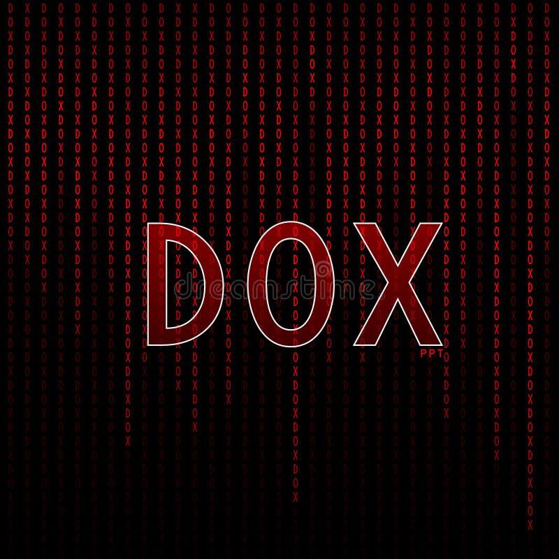 Vermelho gráfico da matriz de Dox fotografia de stock
