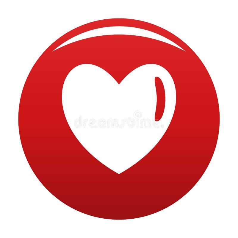 Vermelho humano morno do vetor do ícone do coração ilustração do vetor