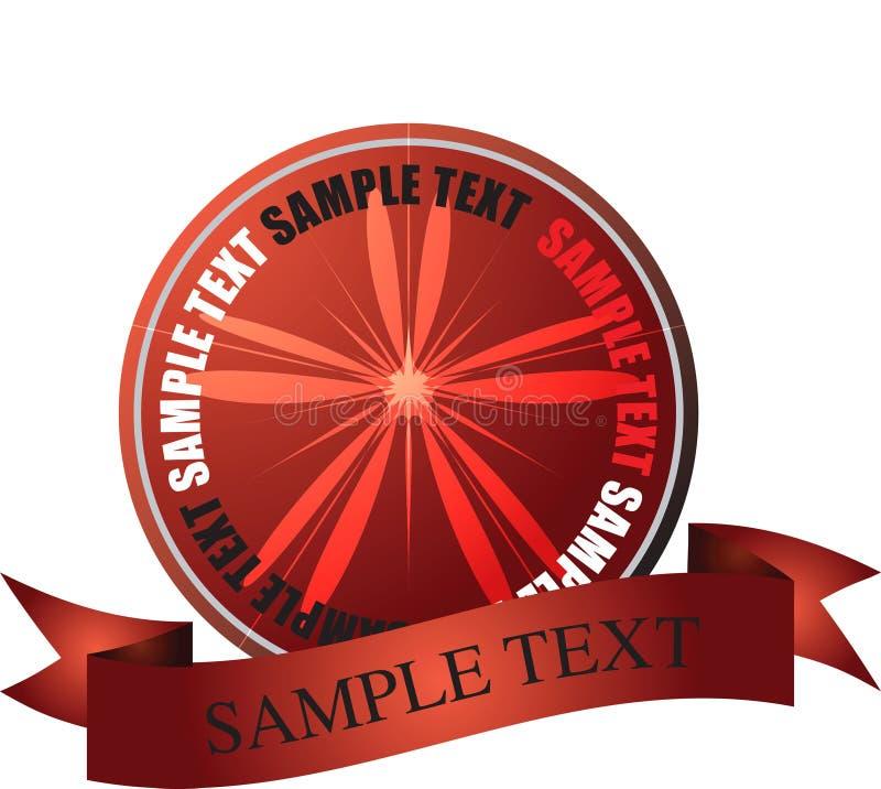 Vermelho LISO do logotipo ilustração do vetor