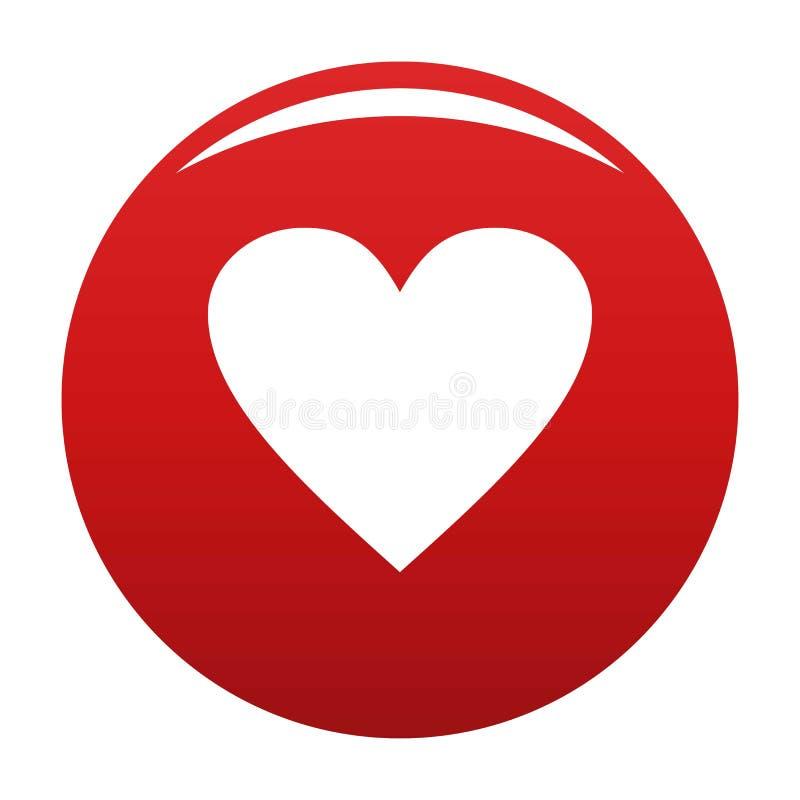 Vermelho maçante do vetor do ícone do coração ilustração stock