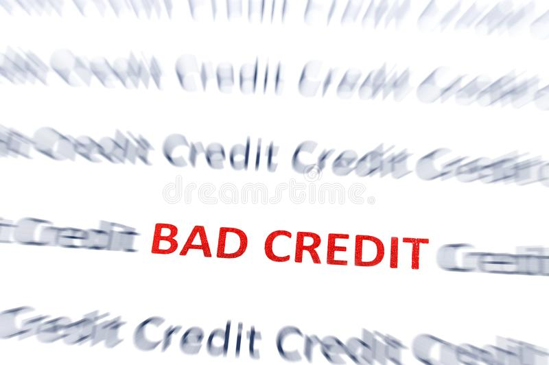 Vermelho mau do crédito ilustração royalty free
