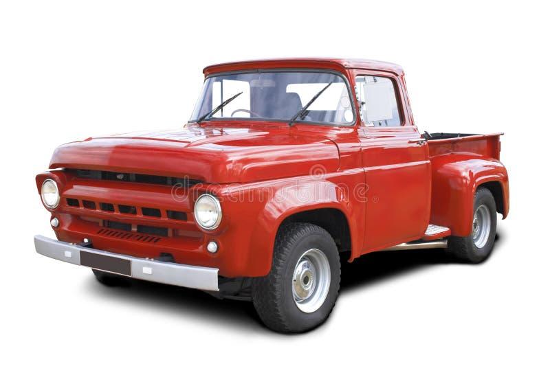 Vermelho pegare o caminhão imagens de stock royalty free