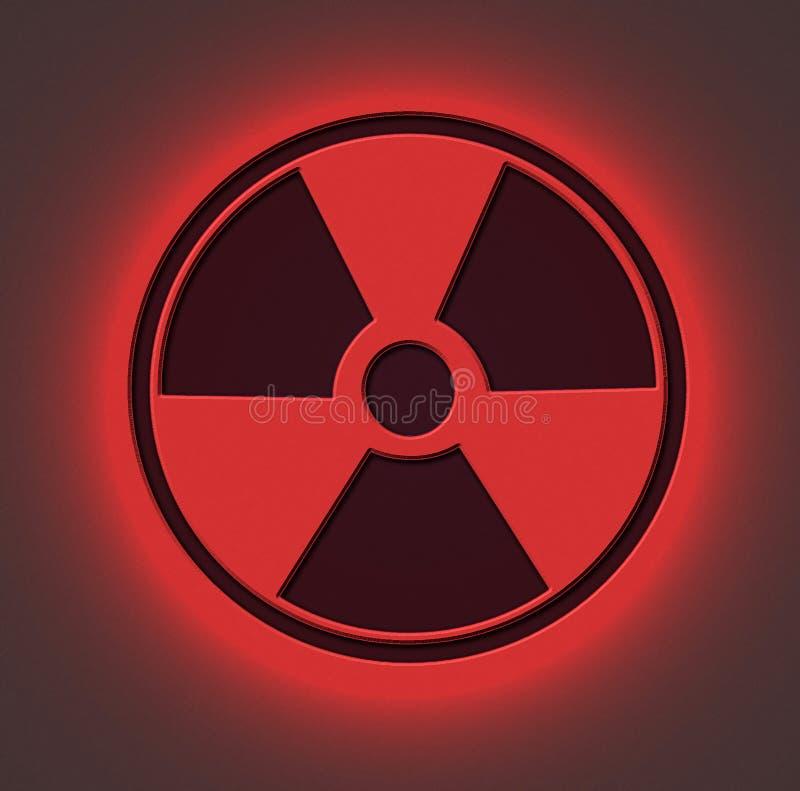 Vermelho radioativo do sinal imagens de stock
