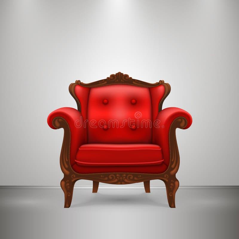 Vermelho retro da cadeira ilustração royalty free