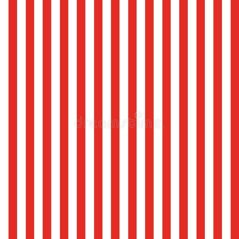 Vermelho sem emenda do teste padrão da listra ilustração do vetor
