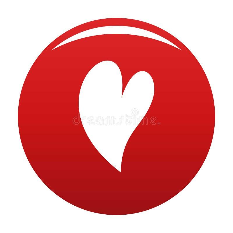 Vermelho surdo do vetor do ícone do coração ilustração do vetor