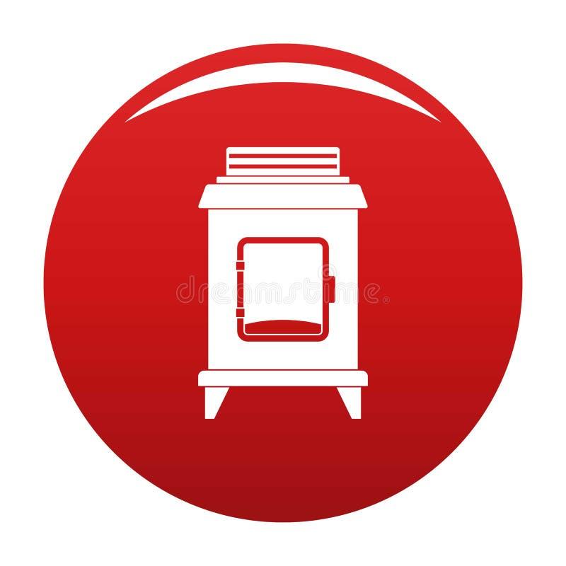 Vermelho velho do vetor do ícone do forno ilustração do vetor