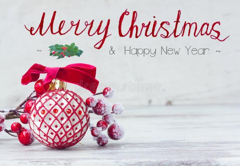 Vermelho White Christmas fotos de stock