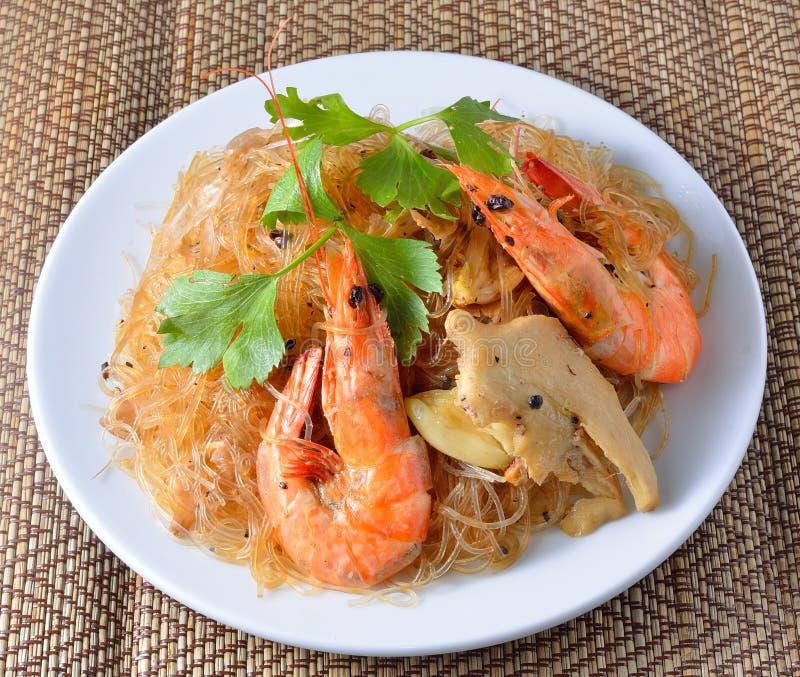 Vermicelli γαρίδων ταϊλανδικά τρόφιμα στοκ εικόνες με δικαίωμα ελεύθερης χρήσης