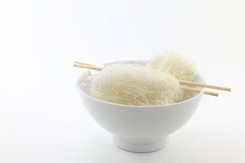Download Vermicelli Noodles In White Bowl Stock Photo - Image: 18433244