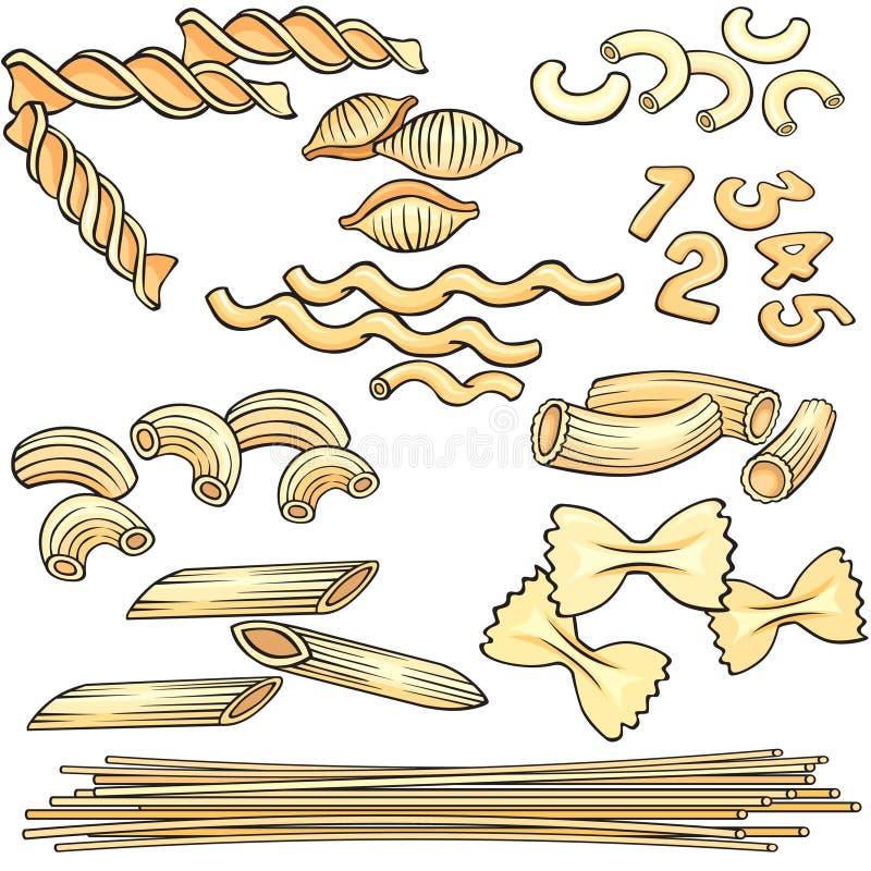 Free Vermicelli, Spaghetti, Pasta Icons Set Stock Photos - 14495183