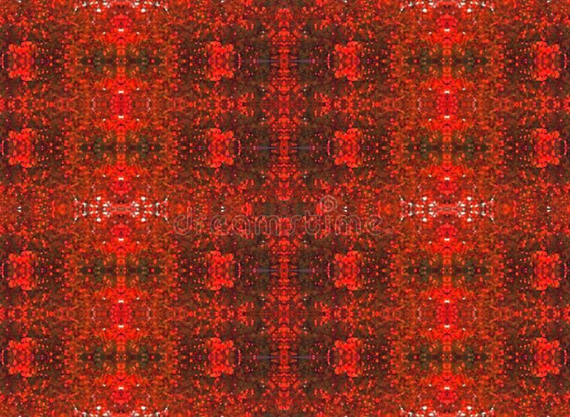 VERMILION REPEAT PATTERN. Delicate detailed vermillion and red decorative repeat pattern royalty free illustration
