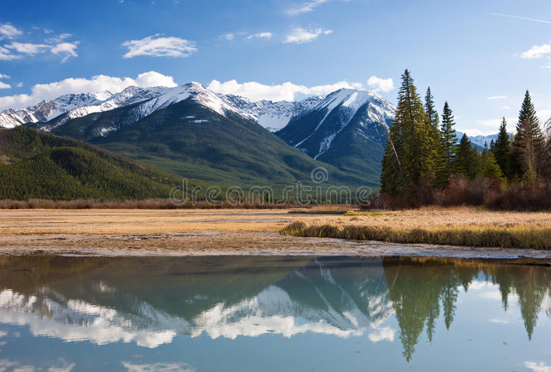 Download Vermillion Lakes stock image. Image of park, canoeing - 14329291