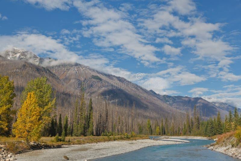 Vermillion Rivier, Canada stock foto's