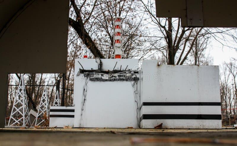 Verminderd exemplaar van de Kernenergieinstallatie van Tchernobyl royalty-vrije stock afbeeldingen