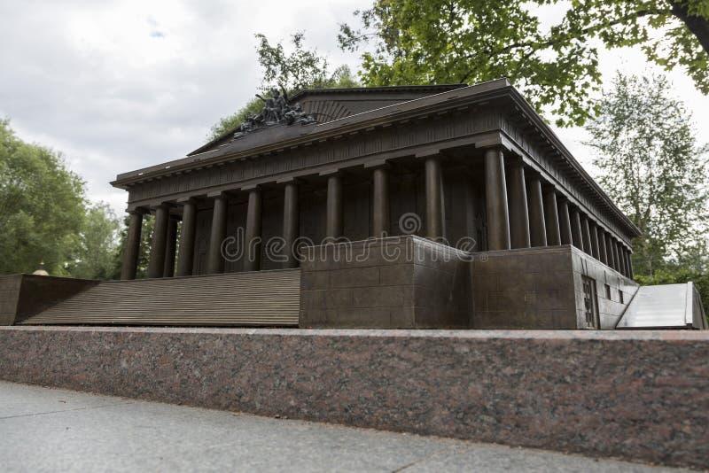 Verminderd exemplaar van het Beursgebouw in Alexander Park in St. Petersburg royalty-vrije stock foto's